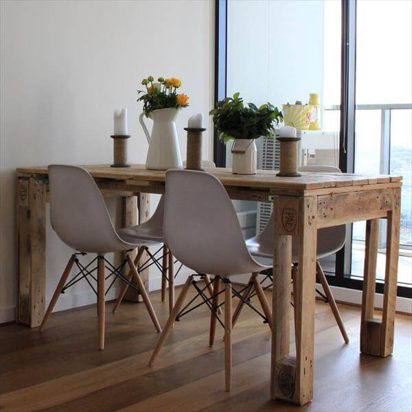 Rustic style pallet dining table pallet furniture diy - Table cuisine palette ...