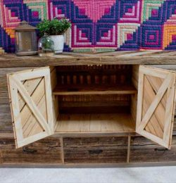 recycled pallet dresser and sideboard