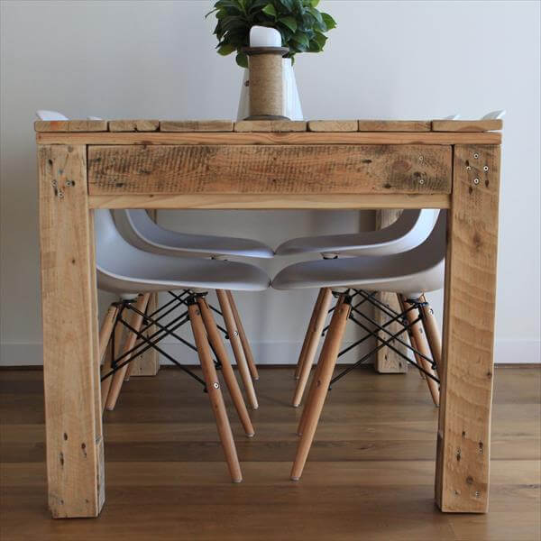Rustic Style Pallet Dining Table Pallet Furniture DIY