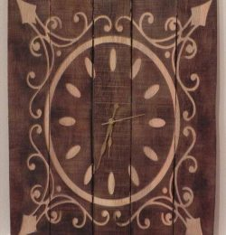 recycled pallet accent wooden wall clock