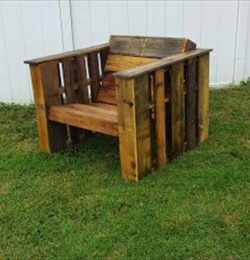 outdoor chair salvaged from pallets