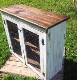 recycled pallet media cabinet