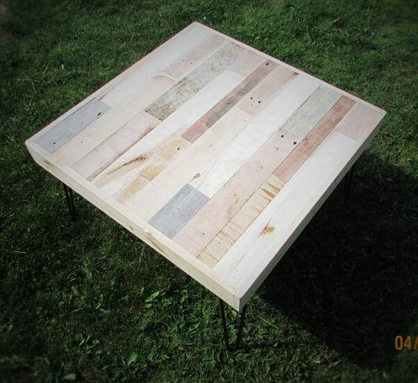 regained pallet and metal coffee table