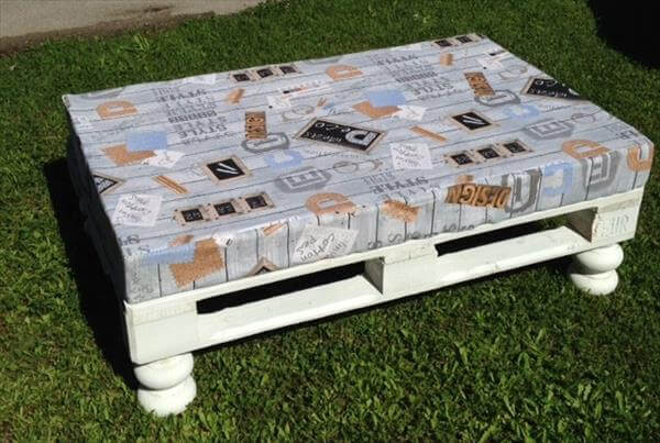 One pallet cushioned seat or ottoman