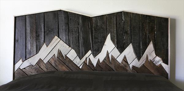diy pallet headboard inspired of landscaping