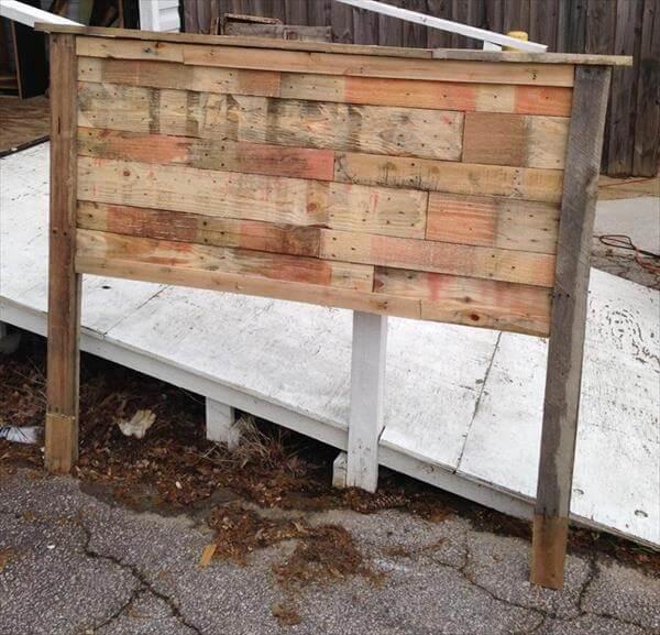 diy wooden queen size headboard