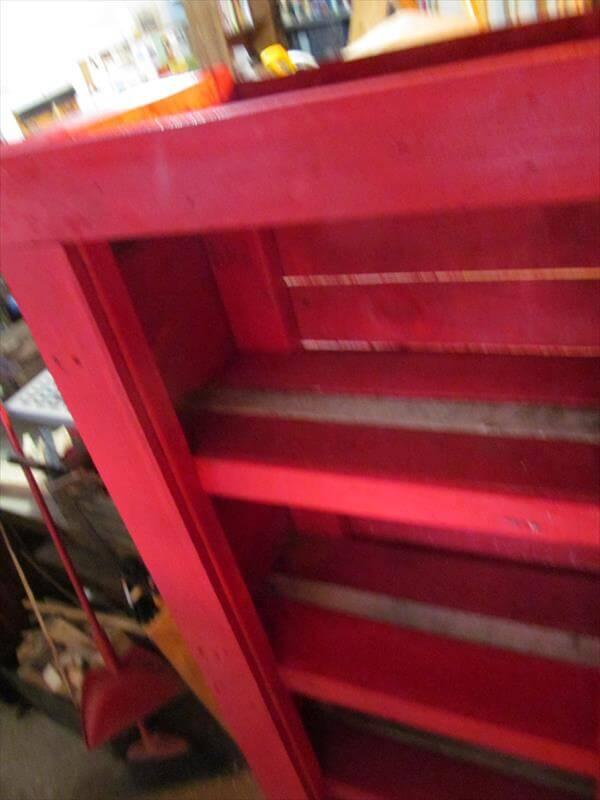 repurposed pallet cabinet