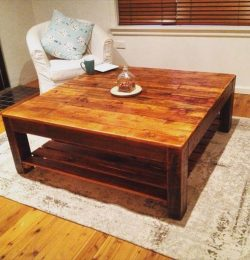 diy pallet vintage inspired coffee table