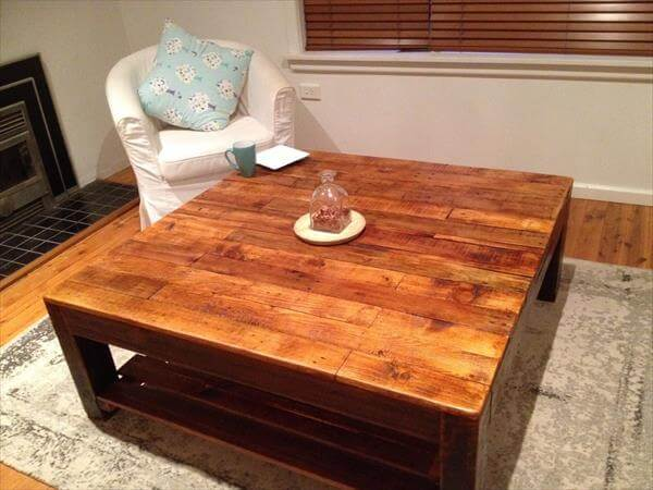 upcycled wooden vintage inspired coffee table
