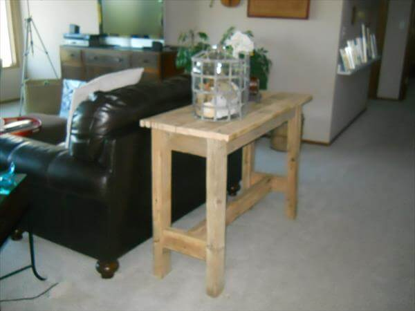 upcycled pallet sofa table