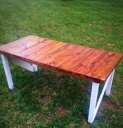 Regained pallet rustic coffee table