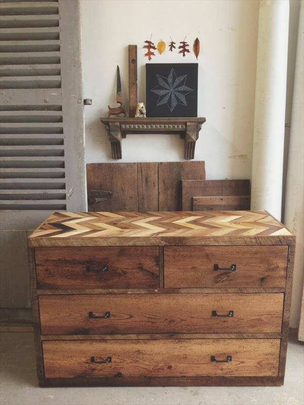 Rustic Dresser Made from Pallets