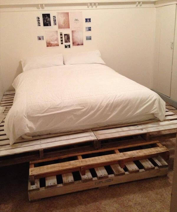 King Size Pallet Bed | Pallet Furniture DIY