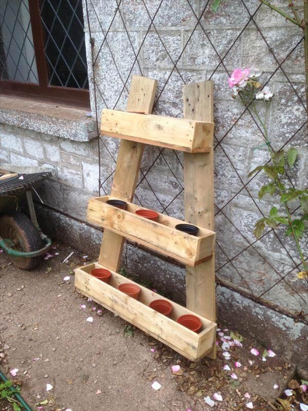 Repurposed pallet vertical planter