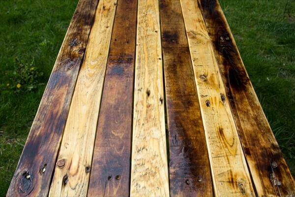 handmade wooden pallet industrial style coffee table
