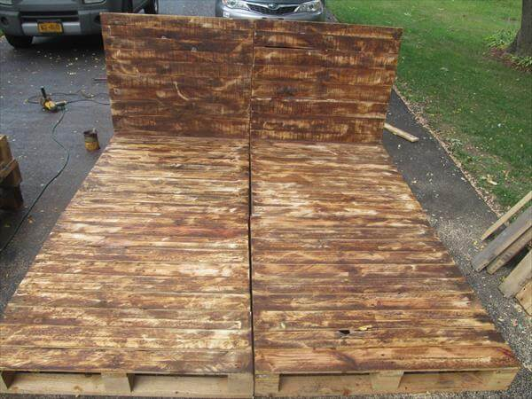 ... diy easy to build pallet bed diy pallet bed with storage headboard