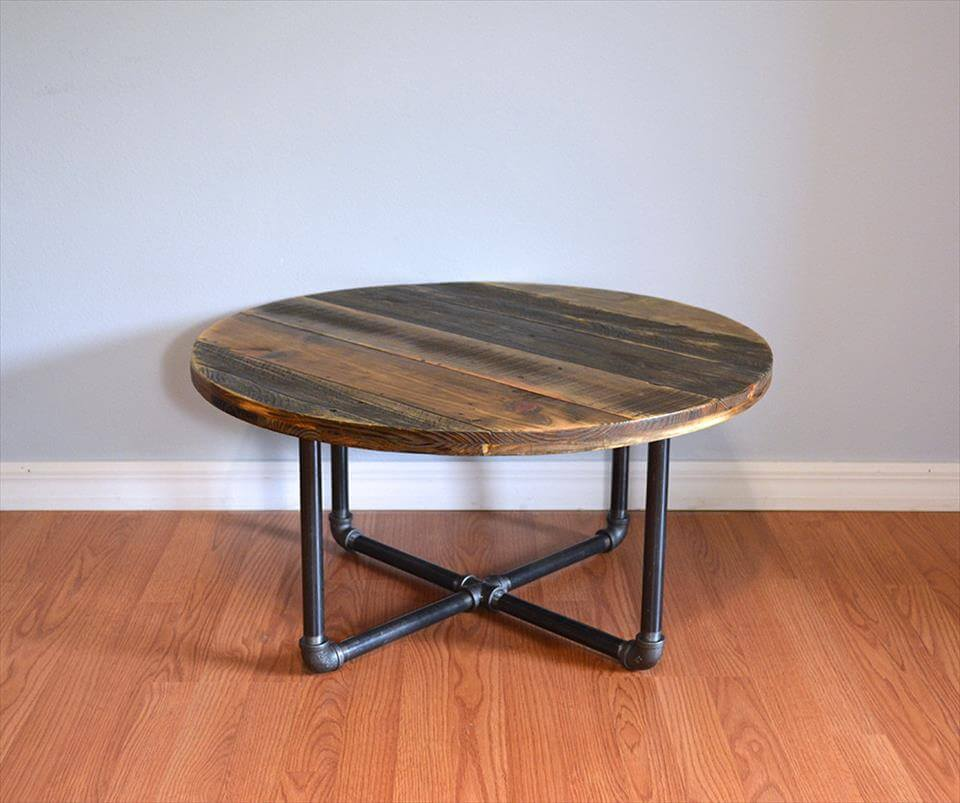 pallet round coffee table pallet furniture diy
