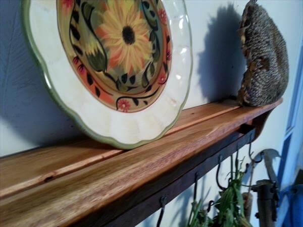 wooden pallet accent vintage inspried shelf