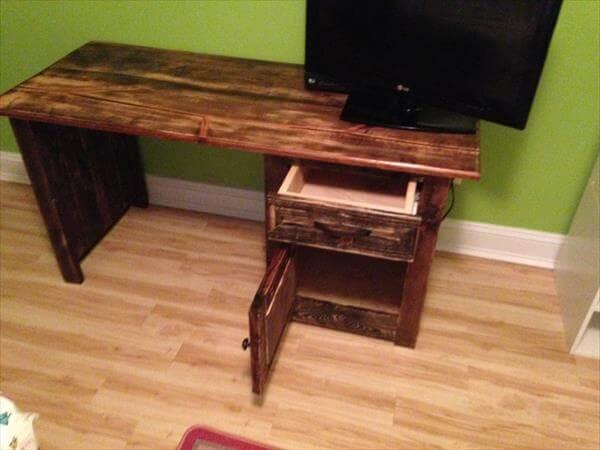 DIY Wood Pallet Computer Desk | Pallet Furniture DIY