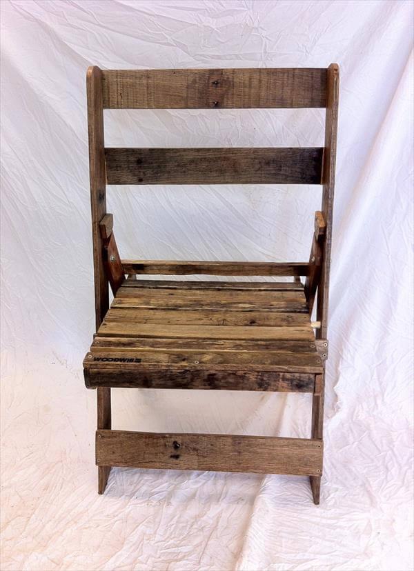 repurposed pallet wooden pallet folding chair
