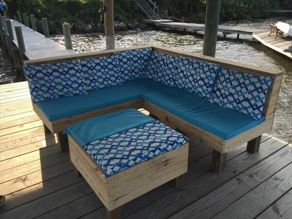 Wood Pallet Sectional Patio Furniture Diy