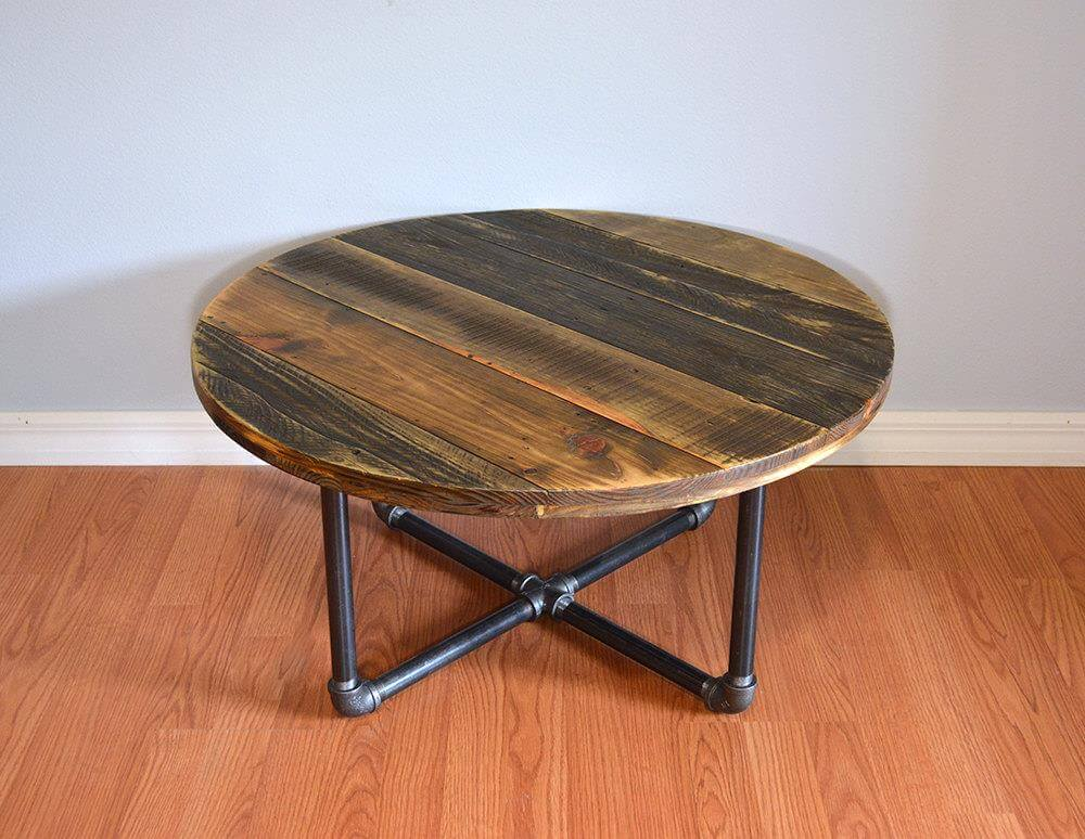 Pallet round coffee table pallet furniture diy Round coffee tables