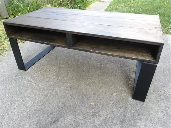 Pallet Coffee Table Rustic Style Pallet Furniture Diy