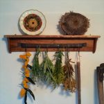 Pallet Rustic Shelf with Forged Iron Hooks