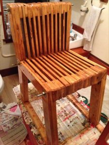 wooden pallet slatted kids chair