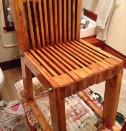 wooden pallet slatted kids chair