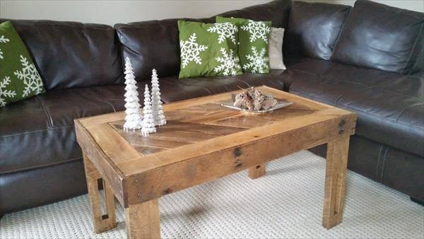 free pallet wooden coffee table
