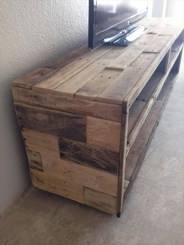 handcrafted pallet TV stand