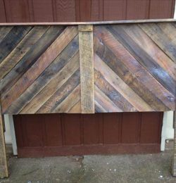 handmade wooden pallet chevron headboard with shelf