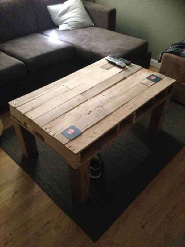 handcrafted pallet living room coffee table