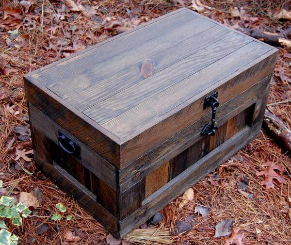 Pallet Treasure Chest – Hop Chest -Trunk | Pallet Furniture DIY