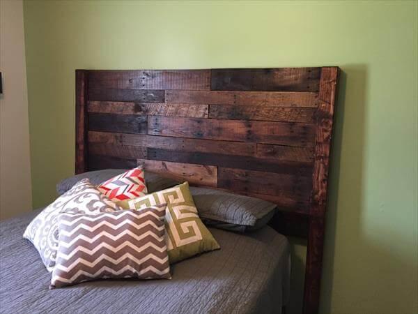Pallet Queen Size Bed Headboard, Pallet Headboard For Queen Bed