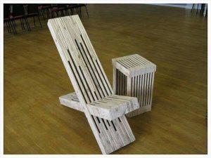 handmade pallet throne chair