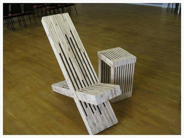 handmade pallet throne chair