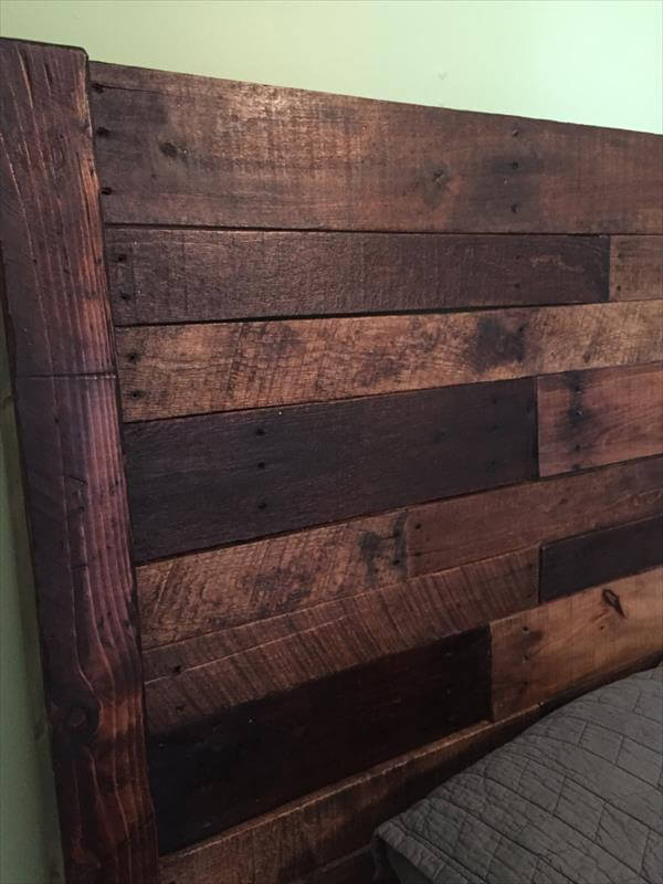 pallet queen size bed headboard pallet furniture diy