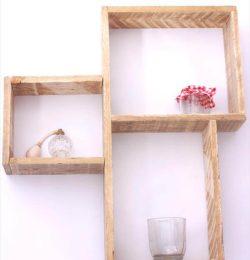 handmade decorative pallet wall shelves
