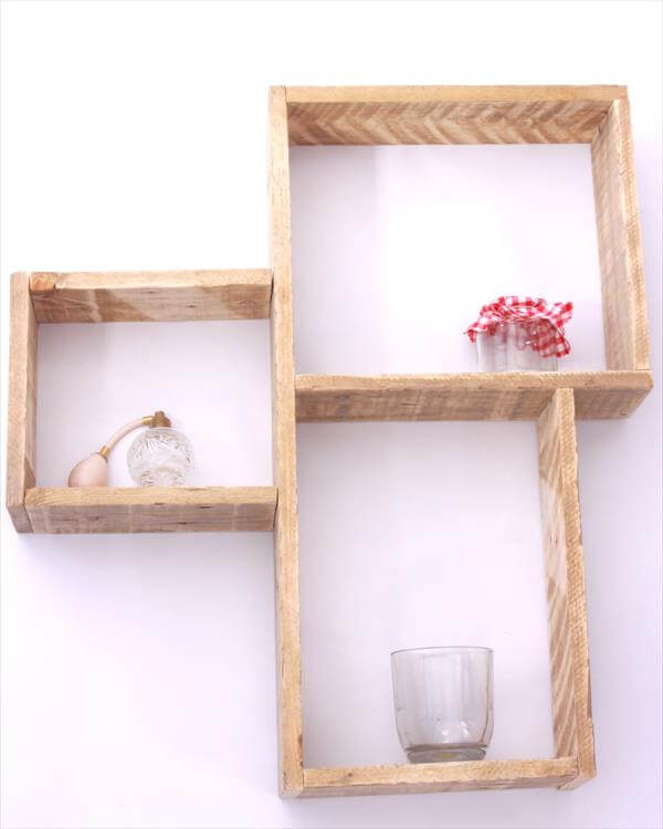 handmade decorative pallet wall shelves