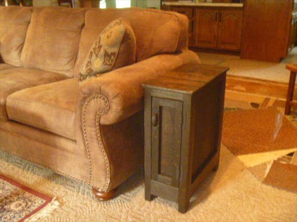 handmade wooden pallet couch table