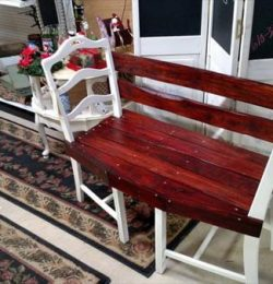 diy pallet and old chair shabby chic bench
