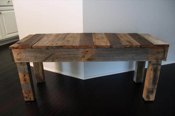 diy pallet bench for garden
