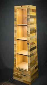 diy pallet shelf tower