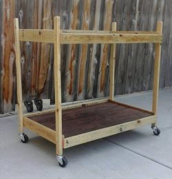 handmade wooden pallet trolley