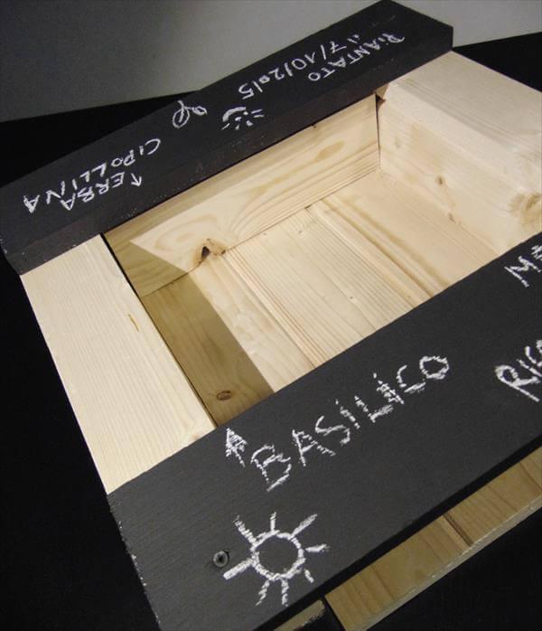 diy pallet wood bin