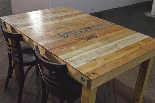 Pallet Wood Bench Reclaimed Pallet Dining Table 4 People Pallet Dining