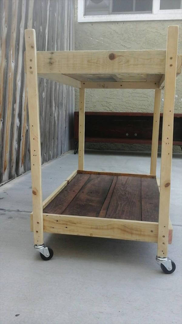 Pallet furniture rolling cart also pallet coffee table cart besides