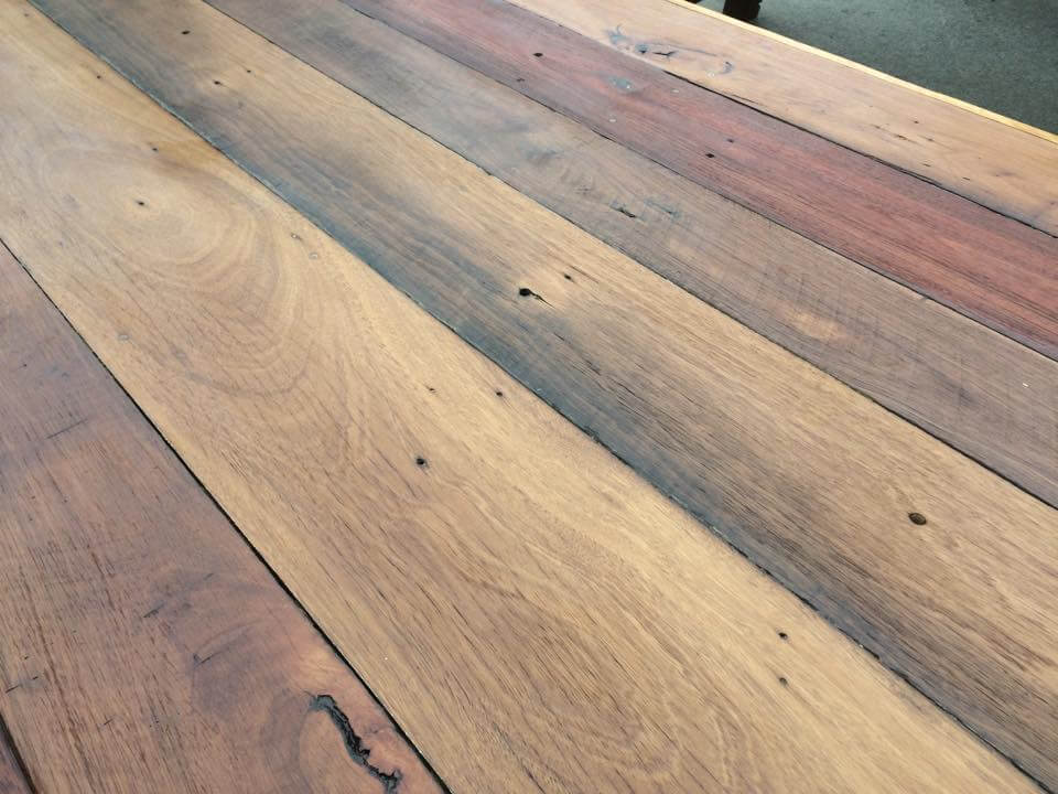Choco brown stained pallet coffee table